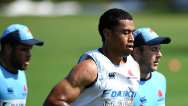 Rising star: John Folau has parted ways with the Waratahs.