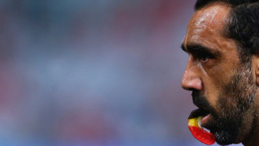The final years Adam Goodes' career are explored in the documentary which releases to the public in June.