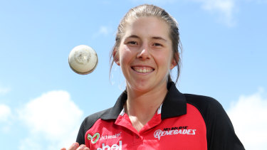 Georgia Wareham has played in the WBBL with the Renegades.