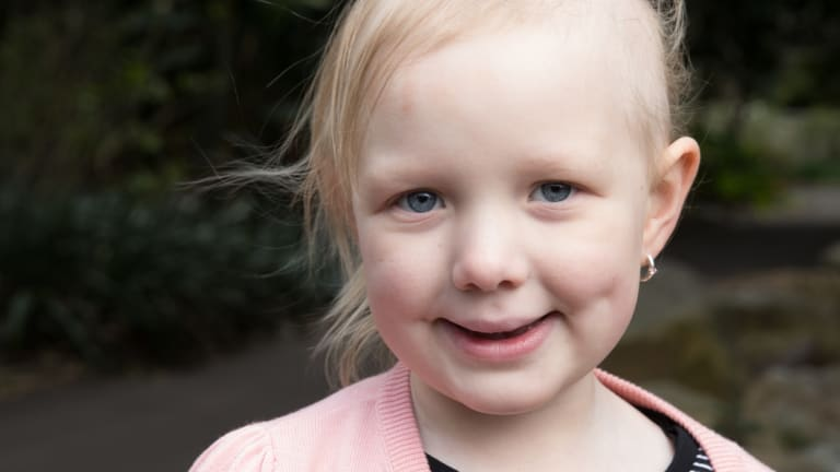 Evie Weir, 6, who died last year of neuroblastoma.