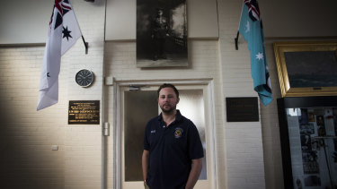 RSL reformer Dave Petersen at the Camberwell City RSL hall