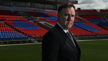 'Going backwards': Newcastle Jets CEO Lawrie McKinna is against a 22-round A-League season.
