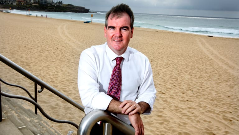 Local member Michael Daley at Maroubra Beach in 2011.