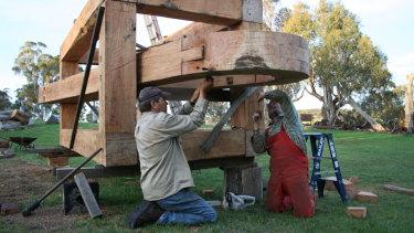 Vaclav Fiala and Walcha sculptor Stephen King.