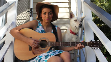 Thelma Plum in 2012, when she won Triple J's Unearthed search for an Indigenous artist.