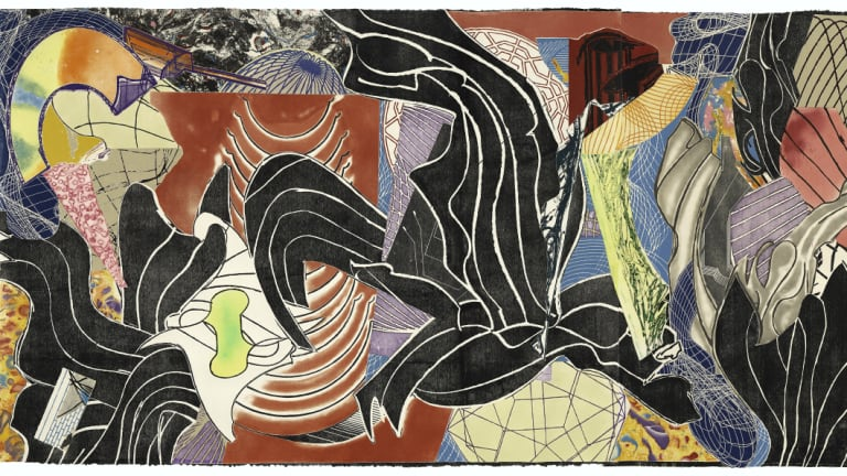 Frank Stella, <i>The Fountain</i> detail, 1992. Gift of Kenneth Tyler 2002.