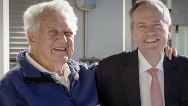 Bob Hawke and Bill Shorten.