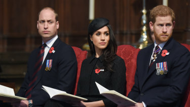 William returned to royal duties by joining Prince Harry and Meghan Markle at an Anzac Day service.