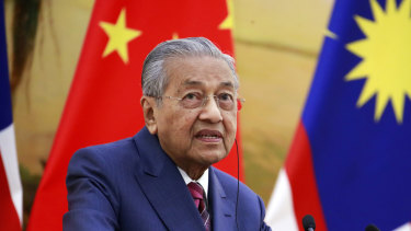 Talking tough: Mahathir Mohamad.
