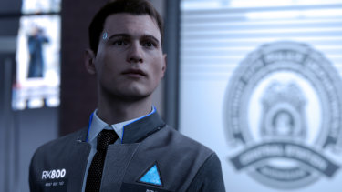 Connor is a police android specifically designed to hunt robots that have developed feelings.