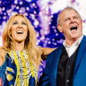 John Farnham surprises fans with cameo at Celine Dion concert