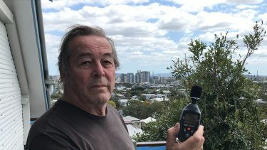 Balmoral resident Dr Sean Foley measured the noise from 117 flights directly over his home in August.