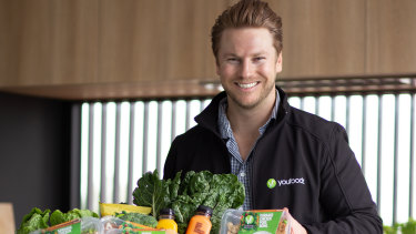 Youfoodz founder and CEO Lance Giles. YouFoodz was 5.6 per cent ahead at $1.045 on Friday afternoon.