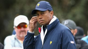 Tiger Woods at Royal Melbourne.