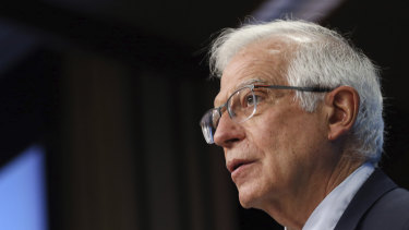 European Union foreign policy chief Josep Borrell says 150,000 Russian troops have amassed on the border.