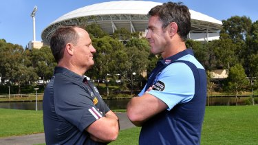 Kevin Walters and Brad Fittler face off in Adelaide, which is meant to host one game in this year's series.