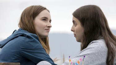 Booksmart (starring Kaitlyn Dever, left, and Beanie Feldstein) created an unintended fashion moment.