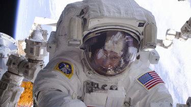 An astronaut during a spacewalk.