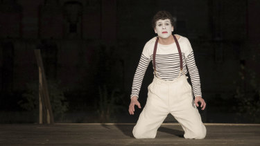Jesse Eisenberg as Marcel Marceau in Resistance.