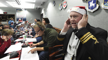 The serious business of answering calls at the NORAD Tracks Santa centre at Peterson Air Force Base in Colorado gets under way today.