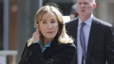 Desperate Housewives star Felicity Huffman has pleaded guilty to charges over the recent college admissions scandal in the US.