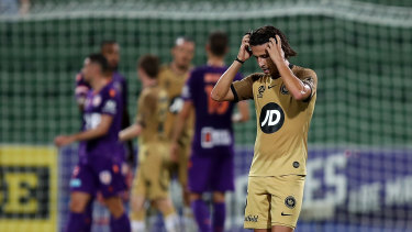 Daniel Georgievski of the Wanderers laments yet another defeat for the Western Sydney outfit.