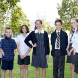 Students from Inner Sydney High model the new school uniform