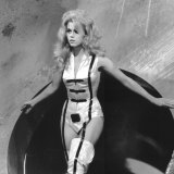 Jane Fonda performs in the 1968 film Barbarella.