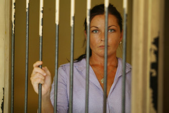 Schapelle Corby in a holding cell at Bali's Magistrates Court on May 28, 2005.