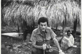Greg Shackleton, in the border area, near Maliana, a few days before his death.