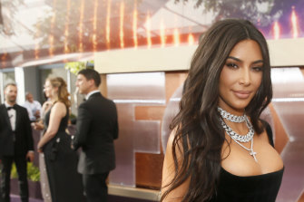Kim Kardashian at the Emmy Awards in September.