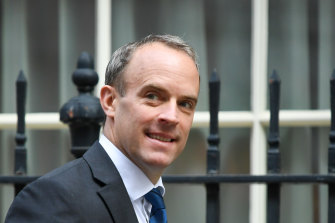 Dominic Raab, UK Foreign Secretary, in London on Tuesday.
