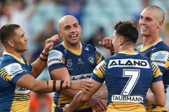 Blake Ferguson and half-back Mitchell  Moses kept Joe Cleary's multi alive.