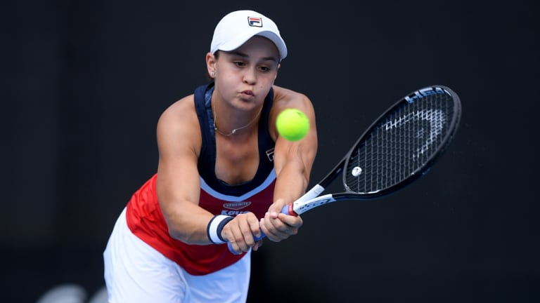 One to go: Ashleigh Barty will be aiming to go one better than last year's runner-up finish when she contests the final of the Sydney International.