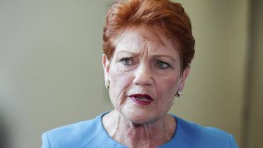 'I will not be pushed': Hanson warns on Coalition's union legislation