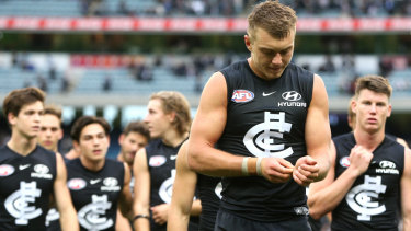 Carlton skipper Patrick Cripps performed admirably all year despite his club's early woes.