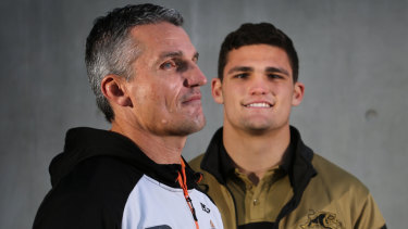 Moral support: Ivan Cleary was present when Phil Gould conducted negotiations with son Nathan.
