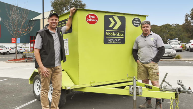 Managing director of Mobile Skips, Jacob Spencer (left), says this will be the busiest week of the year.