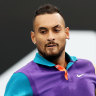 'I was nice to myself': Kyrgios survives injury scare, scrapes home in first match in 12 months