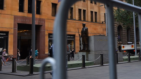 New anti-vehicle barriers for Anzac Day