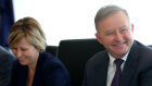 Leader of the Opposition Anthony Albanese talks during a full shadow ministry meeting in Perth