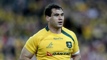 Golden boy: 111-cap Wallaby George Smith says it would be immoral to help Eddie Jones at England.
