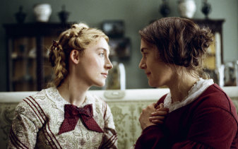 Kate Winslet, right, and Saoirse Ronan in a scene from Ammonite.
