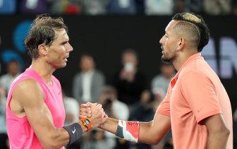 Nick Kyrgios lost a brilliant four-set encounter against Rafael Nadal.