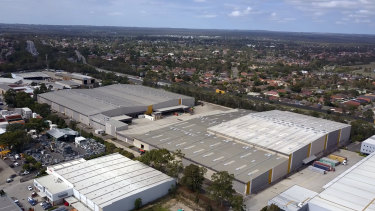 Amazon's new distribution centre  in Moorebank, Sydney.