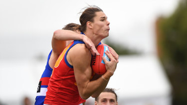Eric Hipwood in action for the Lions.