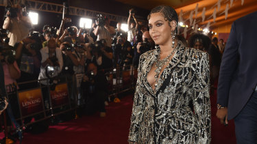 Beyonce at the LA premiere of The Lion King this week.