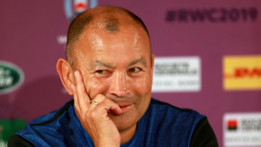Sparkle in his eye: Eddie Jones at the helm of England ahead of the 2019 World Cup.