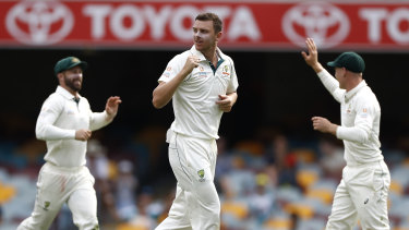 Josh Hazlewood finished with four wickets in the second innings as the Australians wrapped up the match with a day to spare.