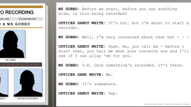 Transcript of a recording between Nicola Gobbo and the officer known to the royal commission as Sandy White when he first met her to assess her viability as an informer in September 2005.